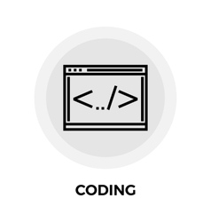 Coding Line Icon vector image