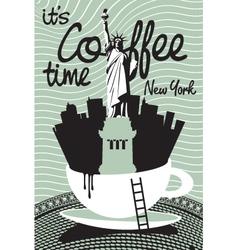 Coffee new york vector