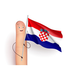 Croatia flag waving vector