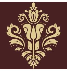 Damask pattern golden ornament vector