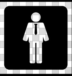 Groom rounded square vector