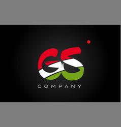 Gs g s alphabet letter logo combination icon vector