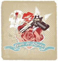 gun rose vector image vector image
