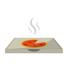 Hot pizza delivery box vector