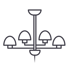 light lamp ceiling bra line icon sign vector image vector image