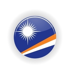 Marshall islands icon circle vector