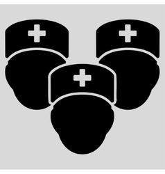 Medical staff icon vector
