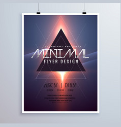 minimal space theme flyer template design with vector image vector image