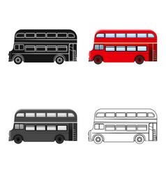 Passenger bus single icon in cartoonoutlineblack vector