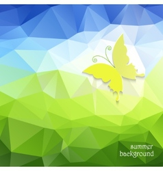 Polygonal pattern and butterfly vector