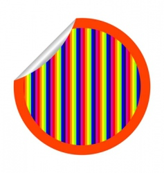 rainbow stripes sticker vector image vector image