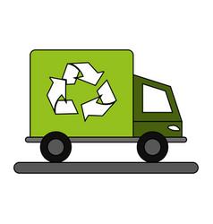 Recycling cargo truck vector