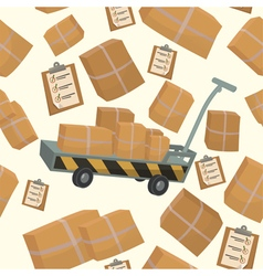 Seamless pattern with boxes and containers vector
