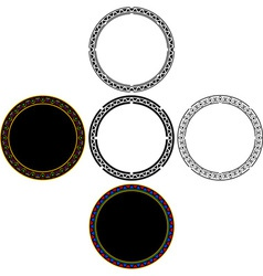 set of mayan circles vector image