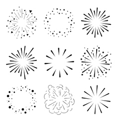 Set of Sparkles and Bursts Minimal design vector image vector image