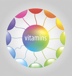 vitamins in the circle vector image vector image