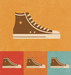 Retro shoe vector