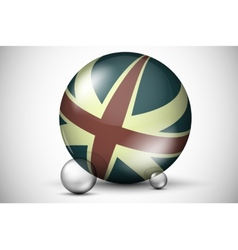 British flag on the ball field vector