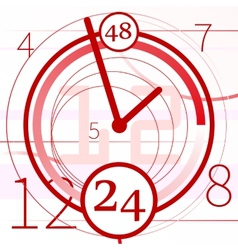 Abstract background with clock vector