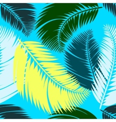 Multicolour palm leaves seamless pattern vector