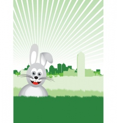 Bunny background vector