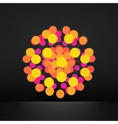 3d abstract sphere geometric shape line and dot vector