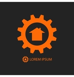 Orange construction company logo vector