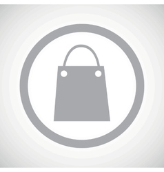 Grey shopping bag sign icon vector