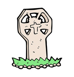 Comic cartoon spooky grave vector