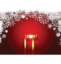 luxury christmas gift vector image