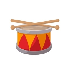 Toy drum cartoon icon vector