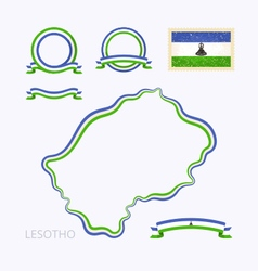 Colors of lesotho vector