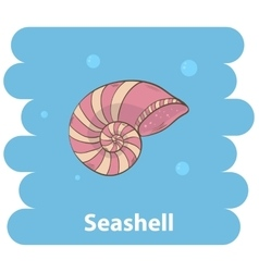 Cartoon seashell vector
