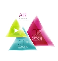 Air triangle abstract background vector image