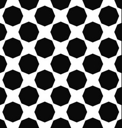 Abstract monochrome octagon pattern background vector
