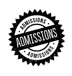 Admissions rubber stamp vector