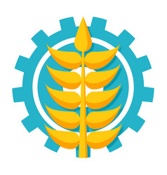 agronomy icon vector image