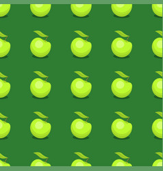 Apple background textile green vector