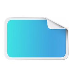Blue sticker on white vector image