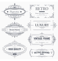 Calligraphic ornaments and frames vector