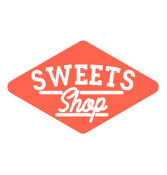Color vintage sweets shop emblem vector