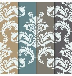 damask pattern ornament set vector image vector image