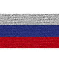Flags russia on denim texture vector