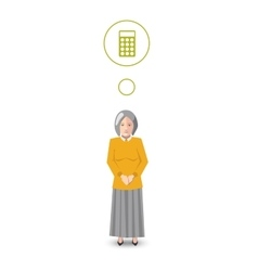 Flat character accountant with profession icon vector image