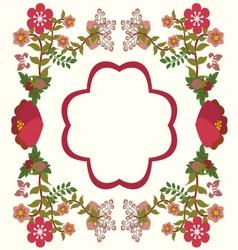 Flower frame background vintage vector