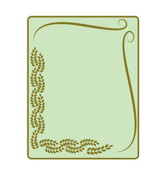 frame of leaf card vector image
