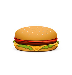 Hamburger isolated on white background vector