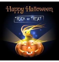 Happy Halloween Poster with Pumpkin vector image vector image