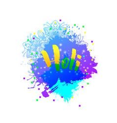 Holi holiday logo emblem vector