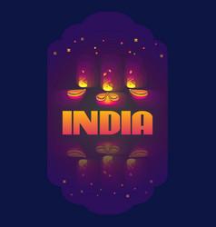 indian oil lamp diya vector image vector image